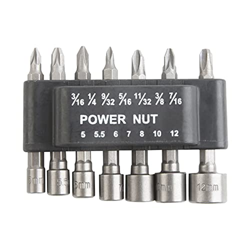 Generic Socket Wrench Screwdriver Set Bit Set Hexagon Handle for Drills or...