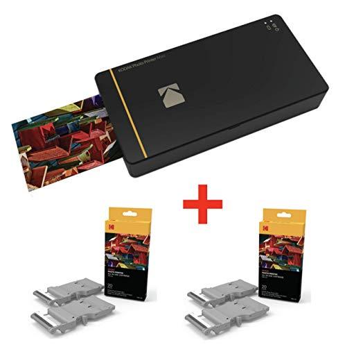 Kodak PM210 PM210 Fotoprinter + 40 papieren voor foto's en patronen, 2 x PMC 20