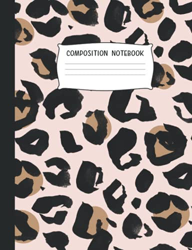 Composition Notebook: College Ruled | Pink Boho Cheetah (College Ruled School Notebooks for Students)