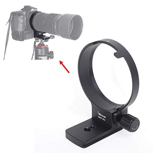 iShootリング式三脚座、レンズサポート襟、三脚マウントリングfor シグマSigma 100-400mm f/5-6.3 DG OS HSM Contemporary Lens (for Canon EF Nikon F Mount), クイックリリースプレート付き, ARCA-SWISS、KIRK、SUNWAYFOTO タイプの雲台、ボールヘッドを対応