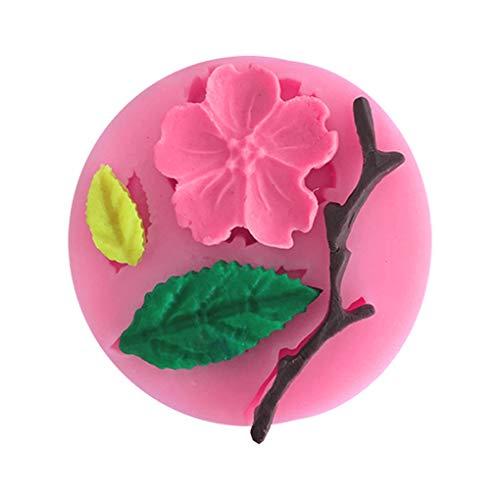 rongweiwang Candy Stampo Plum Blossom Flower Branch Forma Fondant Stampi Torta Decorazione Strumenti di Decorazione del Sapone al Cioccolato Stencil Stampo