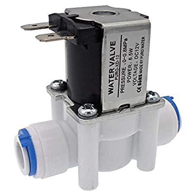 """DIGITEN 12V 3/8"""" Inlet Feed Water Solenoid Valve Quick Connect for RO Reverse Osmosis by DIGITEN"""