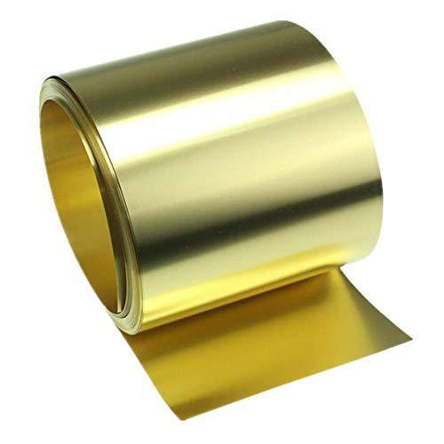 DGPOAD 5 m Dickes dünnes Bronzeband 0,1/0,2/0,3/0,5 mm Bronzeplatte Goldfilm Bronzeplatte Bronzeplatte H62