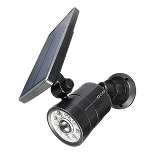 オンスクエア 防犯カメラ型LEDセンサーライト ソーラー充電式 800lm 昼光色 防水防塵IP65相当 OL-332B