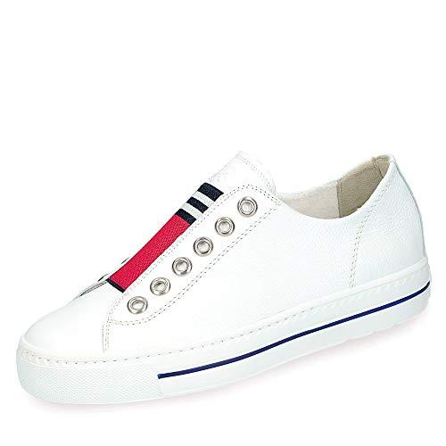 Paul Green Damen Slip-On-Sneaker 4797, Frauen Low-Top Sneaker, Freizeit leger Halbschuh strassenschuh schnürer schnürschuh,White/RED,39 EU / 6 UK