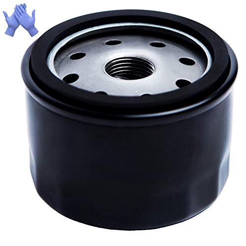 HOODELL 696854 Oil Filter with Gloves, Compatible with John Deere AM125424, Kawasaki 49065 7007, Pro Performance Lawn Mower Oil Filter
