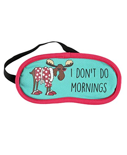 Lazy One Women's Don't Do Mornings Moose Sleep Mask Green