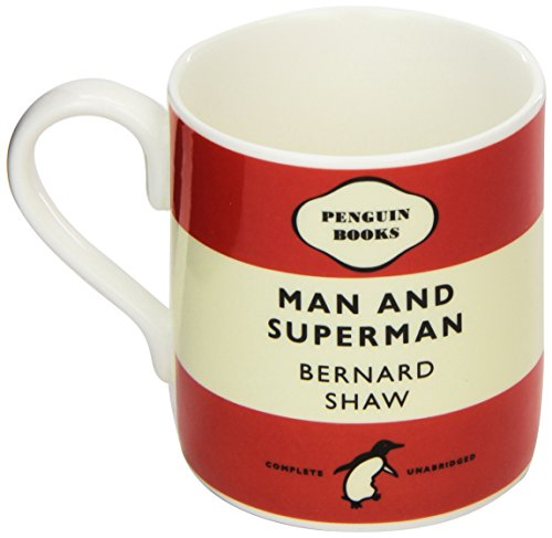 Mug - Man and Superman - George Bernard Shaw. Red: Penguin Merchandise