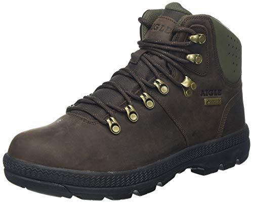 Aigle Tenere Light Retro GTX, Zapatos de High Rise Senderismo Hombre, Negro (Coffee/Verykaki 001), 39 EU