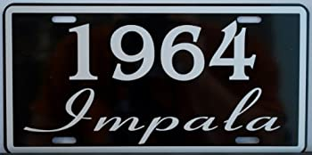 Motown Automotive Design 1964 64 Impala License Plate FITS Chevrolet Chevy SS Super Sport Lowrider FINS 348 396 409 427 TAG 6 X 12 HOT Rod Muscle CAR Classic Museum Collection Novelty Gift Sign