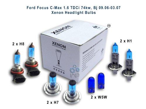 Ford Focus C-Max 1,6 TDCi 74kw, Bj 09, 06-03, 07 Per fari allo xeno lampadine H8, H1, H7, W5W