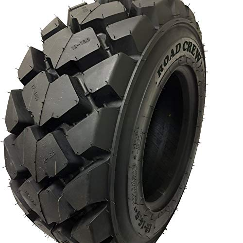 ( 1 TIRE ) 12-16.5 Skid Steer Loader Tire 14 PLY, AIOT-27 HEAVY DUTY 105 LBS, 12X16.5