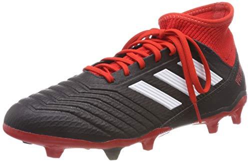 adidas Predator 18.3 Fg, Scarpe da Calcio Uomo, Nero (Cblack/Ftwwht/Red Cblack/Ftwwht/Red), 42 EU