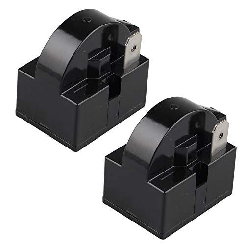 Futheda 2 Stück 15 Ohm 220 V ein Pin PTC Starter Relais 1 Pin PTC Kühlschrank Gefrierschrank Kompressor Starter Kühlschrank Zubehör für Kühlschrank (schwarz)