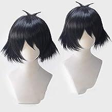Peluca corta negra Cosplay Anime japonés Steins Gate 0 Shiina Mayuri Halloween Juego de roles Peluca Cabello