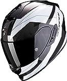 Scorpion NC Casco per Moto, Hombre, Blanco/Negro, M