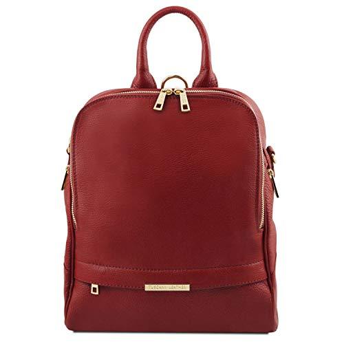 Tuscany Leather TLBag Zaino donna in pelle morbida Rosso