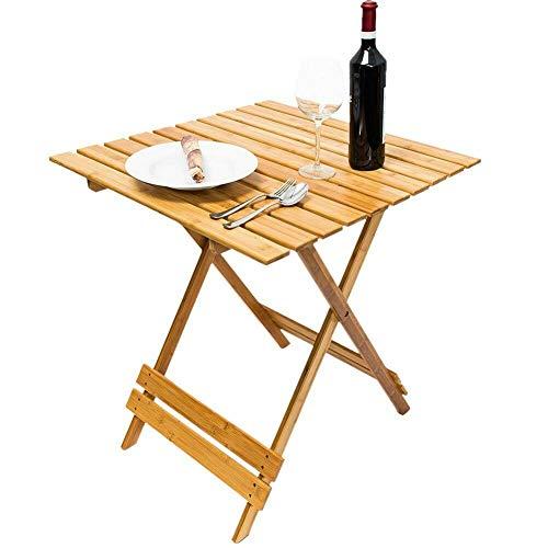BAKAJI Tavolo Tavolino in Legno di Bambu