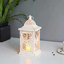 Lanternas decorativas de borboleta JHY Design: Lanterna de metal rústico de 24,13 cm para decoração de interiores, eventos...