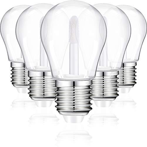 25 Tube de Brillant à Lèvres Forme d'Ampoule Conteneurs de Tube de Baume à Lèvres Vide Mini Bouteilles d'Huile à Lèvres Rechargeables Transparentes avec 4 Entonnoirs en Plastique pour DIY, 6 ml