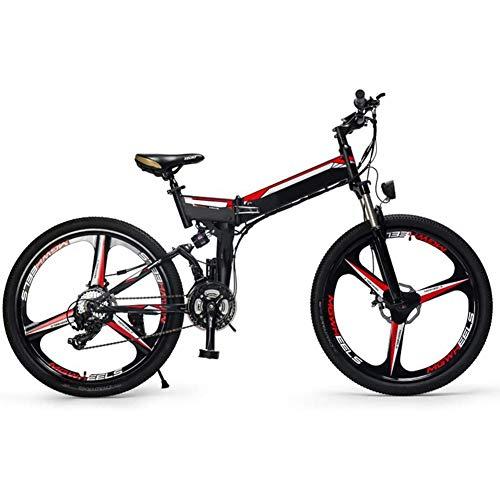D&XQX Plegables E-Bici, 26 Pulgadas de Bicicletas de montaña eléctrica, con el...