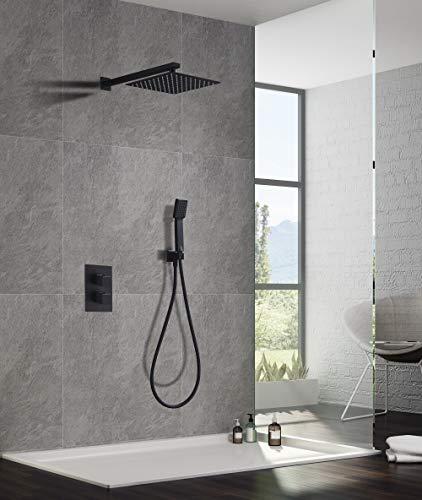 Conjunto ducha termostática empotrada Imex Cies Negro GPC009-NG
