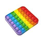 Ousyaah Sensorial Fidget Juguete Push, Pop Bubble Sensory Toy, Arco Iris Sensorial Figit Toy Autismo Necesidades Especiales Aliviador del Antiestrés del Juguetes Juguetes educativos (A)