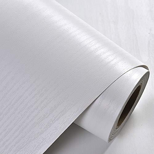 YEEXCD Zwart Wit Hout Graan Behang Zelfklevende Vinyl Contact Papier Peel-Stick Waterdichte Muurstickers voor Kamer Tegel Meubels Home Decor