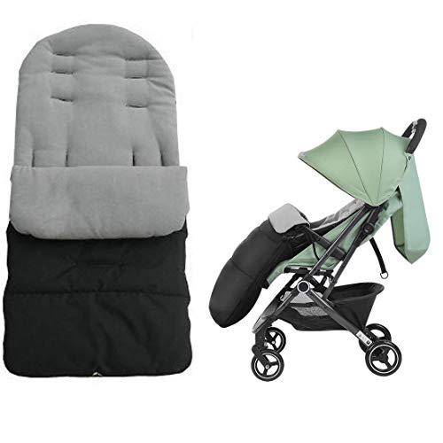 Cloudsemi Winterfußsack Kinderwagen Baby Fußsack Kinderfußsack für Kleinbaby (Grau)