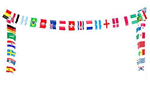 Brubaker wimpelketting slinger 32 wimpel 10,5 meter - alle deelnemers wereldkampioenschap