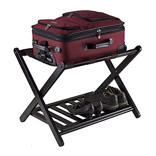 Great Price! GDXLJ Folding Luggage Rack Solid Wood 2-Layer Luggage Racks Hotel Professional Folding ...