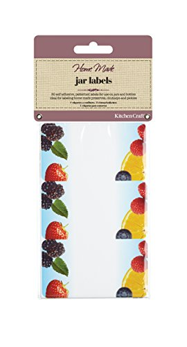 KitchenCraft Home Made Jam Jar etiketten voor potten en flessen Fruit Pack of 30