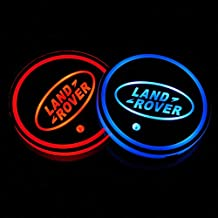 Auto Sport 2PCS LED Cup Holder Mat Pad Coaster with USB Rechargeable Interior Decoration Light for Land Rover Accessory