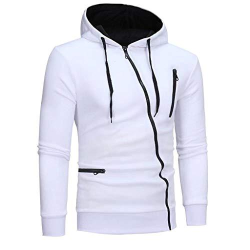 UINGKID Herren Warm einfarbig Zipper Hoodie Sweatshirt Langarm Sport Outdoor Mantel mit Taschen