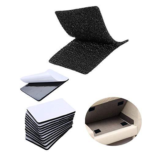 LBHMEI 15 unidades de cinta de velcro autoadhesiva, 4 x 15 pulgadas, cinta adhesiva antideslizante y pegajosa con parte trasera adhesiva, cinta de velcro de doble cara para sofá