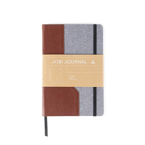 Jobi Journal Leather Dotted Bullet Notebook, Lies Flat, A5 Acid-Free Paper