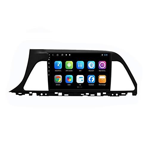 2 DIN Radio De Coche, Autoradio Car Radio con Bluetooth Manos Libres 9' Pantalla Táctil/FM Tuner/WiFi SD Apoyo DSP Navegación GPS, para Hyundai Sonata 2016-2018,Octa Core,4G WiFi 2+32