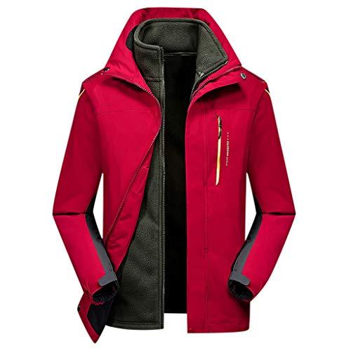 LIMITA 3-in-1-Jacke aus abnehmbarem Samt und Zwei Teilen Große, kältefeste Jacke Herren Winter warme Jacke Bomberjacke Motorradjacke