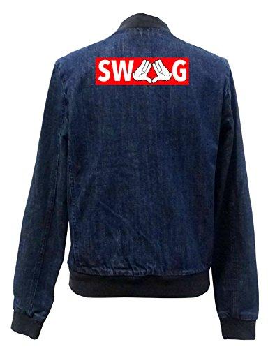 Certified Freak Dope Hands Swag Bomber Chaqueta Jeans