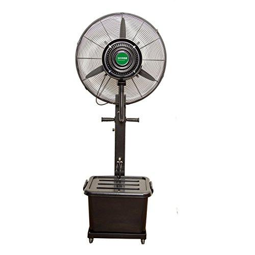 Ventilador de Piso Ventilador de pulverización Industrial Tipo de Empuje Manual de Alta Potencia de refrigeración por Agua humidificación Ventilador atomizador Ventilador de Agua centrífuga