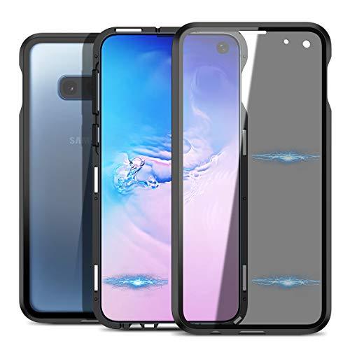 CE-Link für Samsung Galaxy S10E Hülle Glas mit Magnetisch Panzerglas Privat Privacy Anti Spy Spion Dunkel Transparent Durchsichtig Handyhülle 360 Grad Full Body Case Unbreakcable Schutzhülle Schwarz