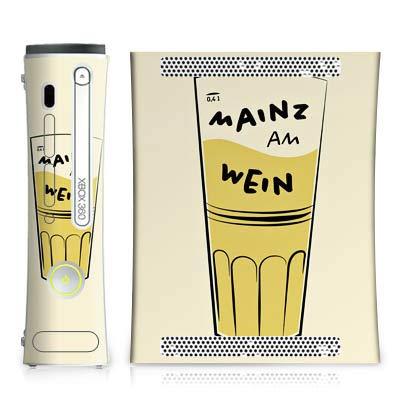 DeinDesign Skin kompatibel mit Microsoft Xbox 360 Aufkleber Folie Sticker Glas Mainz Wein