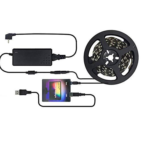 Juego de tiras LED,TV PC Dream Screen Luces de tira LED USB,Kit de luces LED RGB Sincronización con música,TV HD,Monitor de computadora Decoración de retroiluminación para el hogar,60 lights,2m