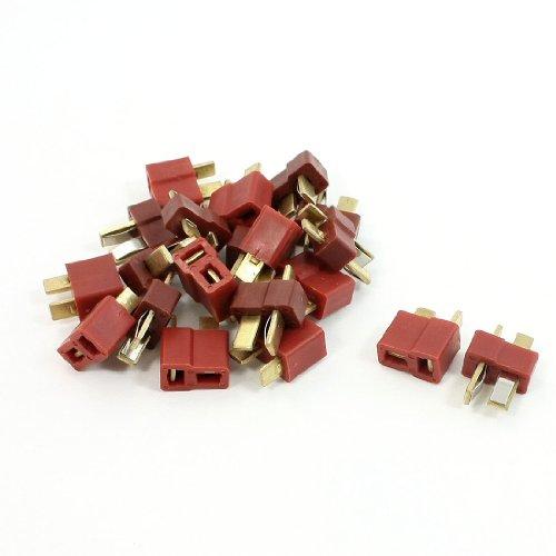 SODIAL(R) 10 x conectores T-Plug H/M compatible con Deans baterias LiPo TM01 punta de oro