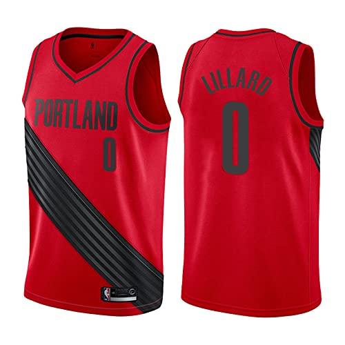 YXST Camiseta de Baloncesto NBA Pionero #0 Malla Bordada de PoliéSter Top,CláSico Transpirable Chaleco de Secado RáPido,para JóVenes Sudadera,Red,M