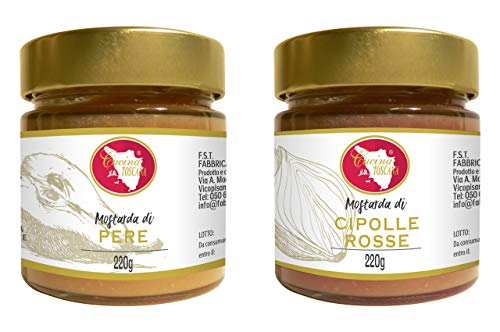CUCINA TOSCANA - Mostarde Gourmet: Mostarda di Pere   Mostarda di Cipolle Rosse 2x200g
