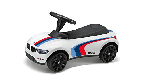 BMW 80932413198 Baby Racer III M Sport weiß Push Auto Spielzeug LED Scheinwerfer