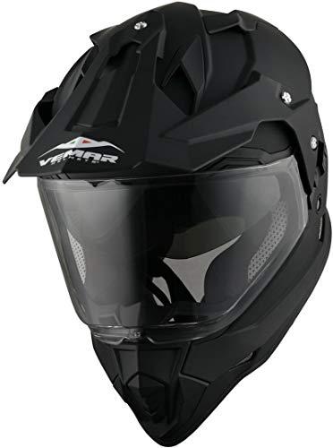 Vemar KONA casco moto integrale enduro motard nero opaco taglia M