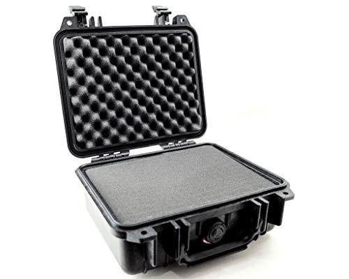 PELI 1200 Koffer für Profikameras, IP67 Wasserdicht, 4L Volumen, Hergestellt in den USA, Mit Schaumstoffeinlage (Anpassbar), Schwarz