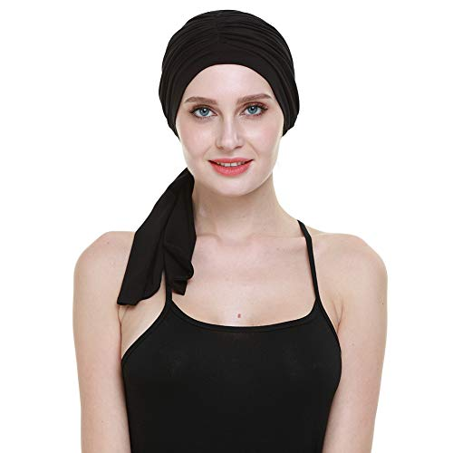 Headwraps for Women,Soft Bamboo Chemo Patients Black